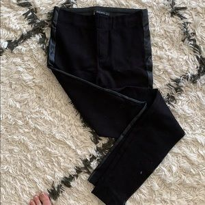 Zara leggings with faux leather detail